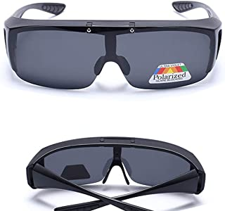 PME HD Vision Wrap Around Polarized Sunglasses For Driving - Unisex,Black Lenses