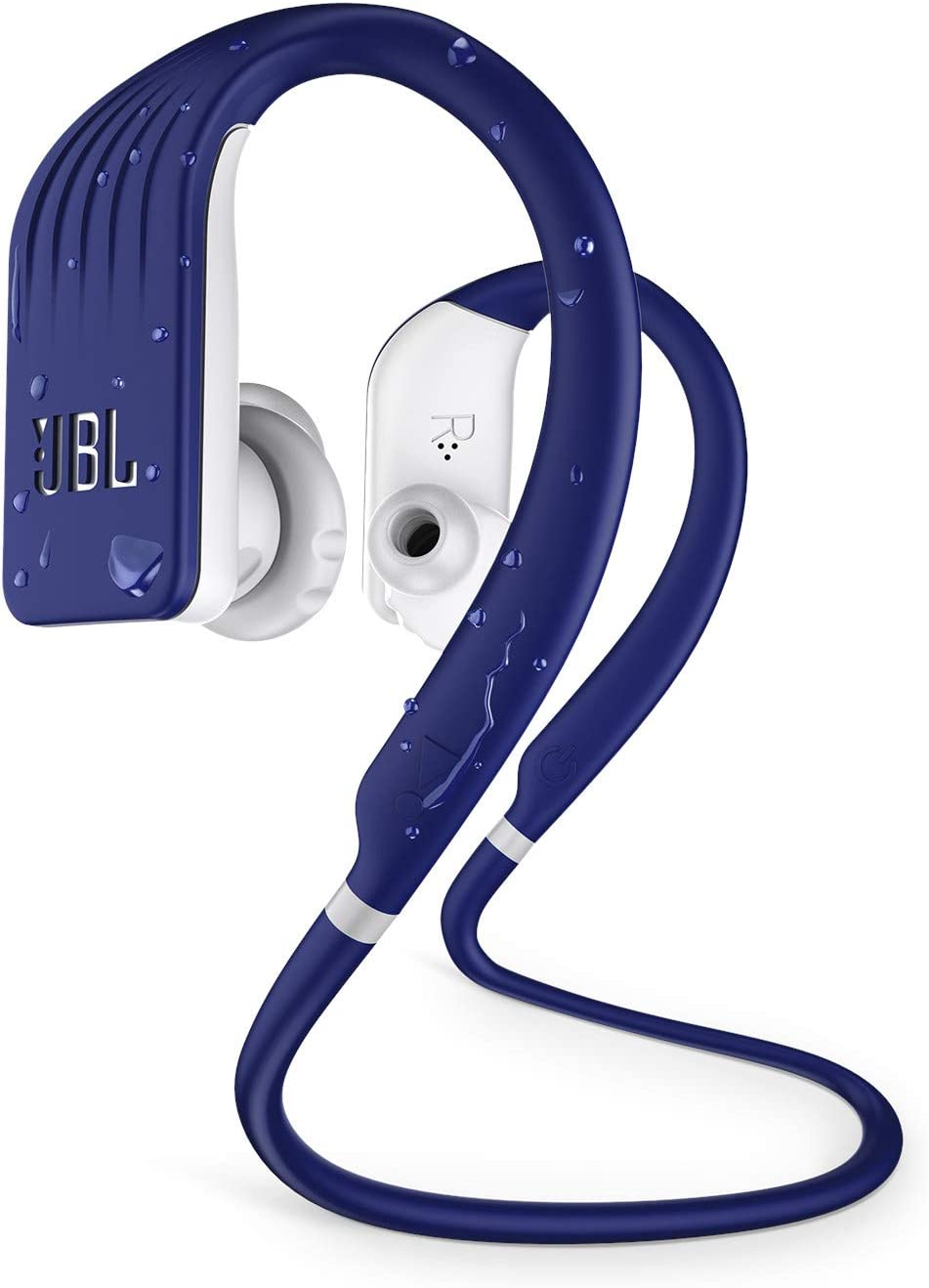 JBL ENDURANCE JUMP- Wireless heaphones, bluetooth sport earphones with microphone, Waterproof, up to 8 hours battery, charging case and quick charge, works with Android and Apple iOS (blue)