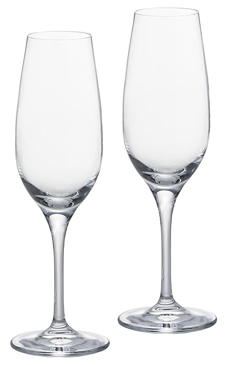 クーポン学習チェスをするアデリア シャンパングラス 180ml シャンパン ペアセット クリスタルガラス製JS-379