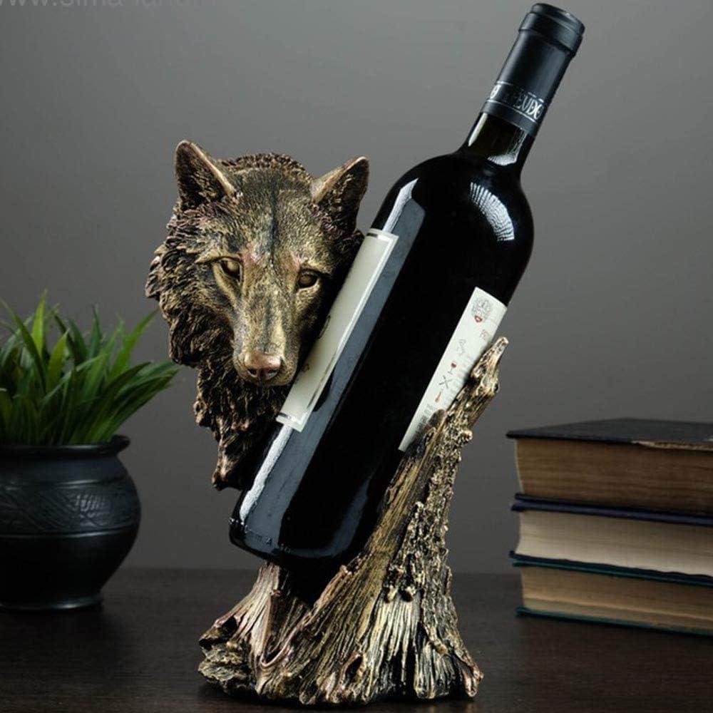 Wolf Wine Bottle Holder Kitchen Rack - Countertop Cou Cheap Decor Cheap mail order shopping