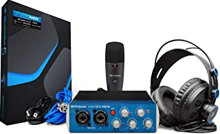 PreSonus AudioBox 96 Studio USB 2.0 Recording Bundle with Interface, Headphones, Microphone and Studio One Artist and Ableton Live Lite DAW Recording Software