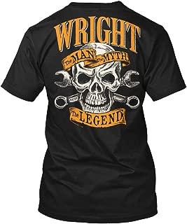 Wright The Man The Myth The Legend XLT - Black Tshirt - Hanes Tagless Tee