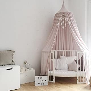 Flameer Kids/Babys Princess Bed Canopy Insect Mosquito NET Boys Girls Reading Play Tents - Pink