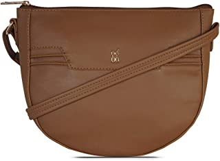 Baggit Autumn/Winter 2020 Faux Leather Women's Saddle Handbag (Yellow) (Tendy)