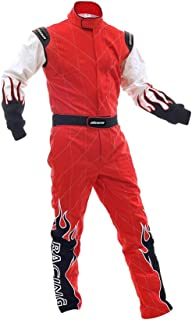 jxhracing RB-C06032 Two Layer Shiny Go Kart Racing Suit-Medium