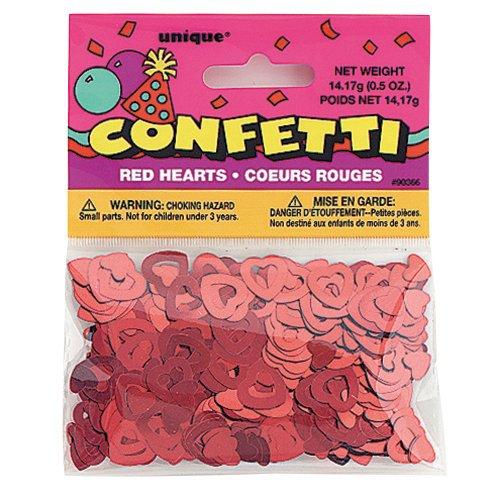 Red Open Hearts Confetti 0.5oz.