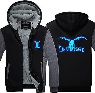 Death Note Cosplay Costume Luminous Winter Hoodie Jacket