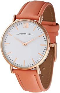 Andreas osten Womens Analog Quartz Watch with Leather bracelet AO-235