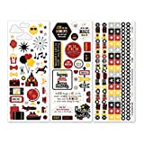 Magic Awaits Layered Sticker Pack Amusement Theme Park Theme Photo Safe Creative Memories Stickers 3 Pack