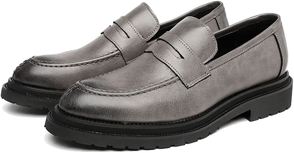 L.P.L Mens Slip-on Shoes Smooth Frosted PU Leather Upper Loafers Gentlemen Business Outsole Oxfords Semi