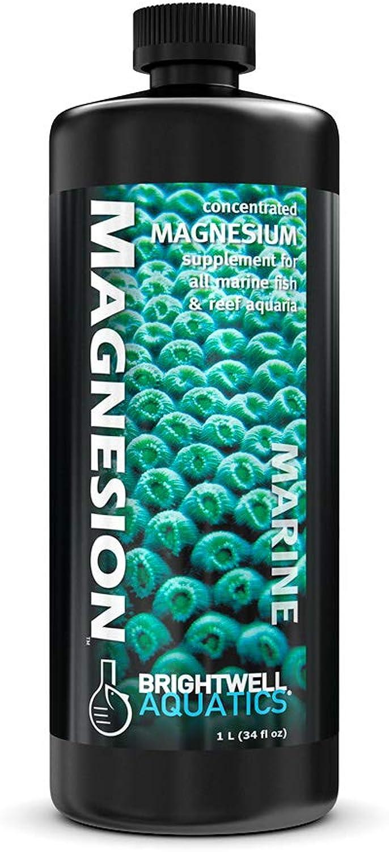 Brightwell Aquatics MAG1L Magnesion Magnesium Solution for Marine Fish & Reef Aquaria, 1L
