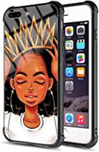 iPhone 7 Plus iPhone 8 Plus Case African Afro Girls Women Slim Fit Shockproof Bumper Cell iPhone Accessories Black Tempered Glass Protective Apple iPhone 7/8 Plus Case 5.5inch - Queen Girls