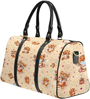 Yunshm Cat Fractal Kitten Personalized Trolley Handbag Waterproof Unisex Large Capacity For Business Travel Storage