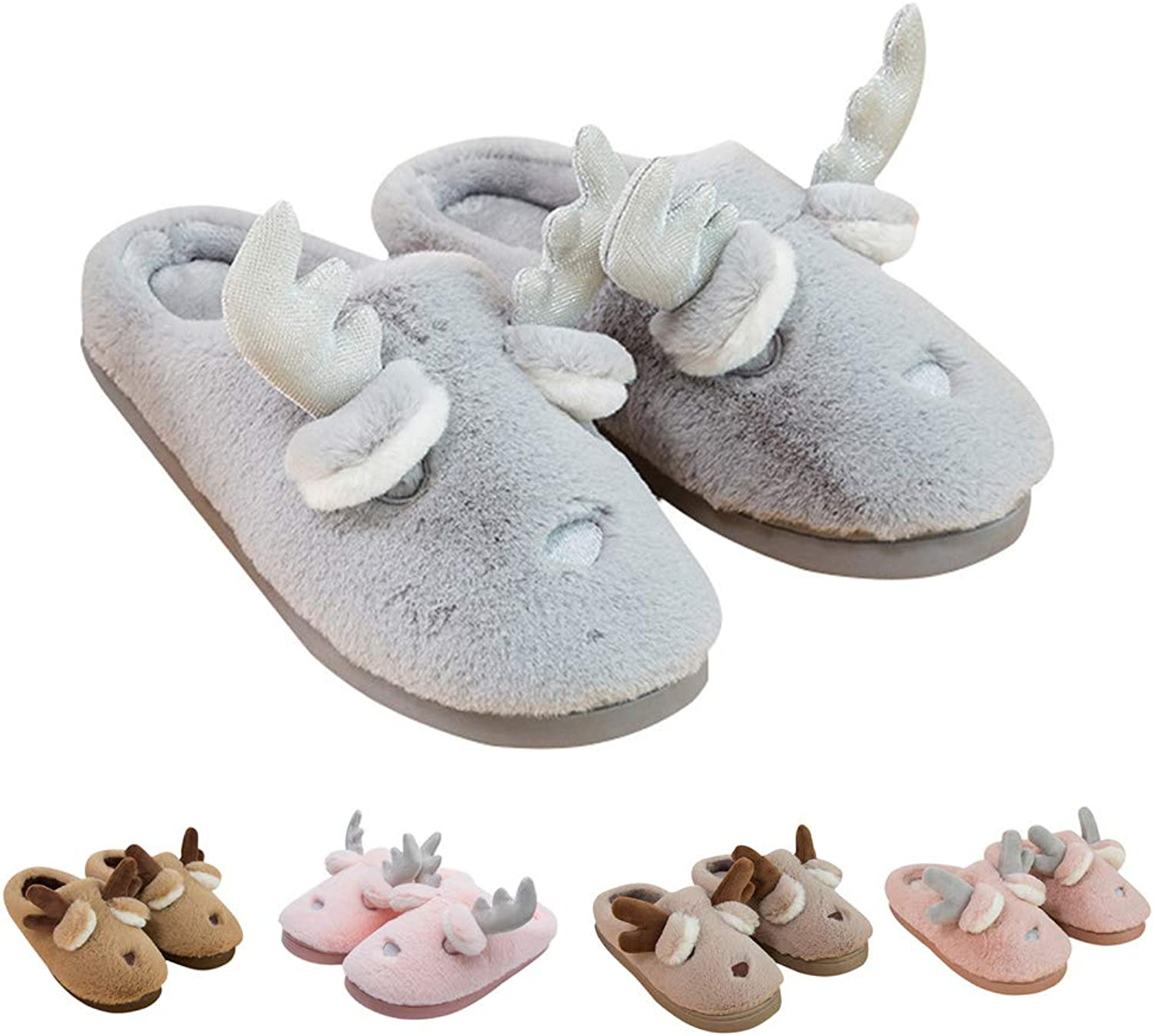 17mile Slippers for Men Women Closed Toe Lightweight Soft Memory Foam Cotton Plush Lined Indoor Home Slippers