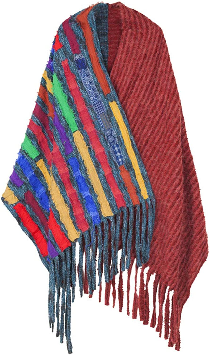 Stoles Scarf Shawl Cloak Spring and Autumn and Winter Fashion Warm Long Section Thick Scarf Ladies Dualuse Shawl (color   Red, Size   260  88cm)