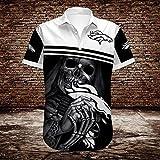 NFL Tシャツポロシャツアンダー - デンバー・ブロンコスラグビーファンジャージー夏の3Dハワイアン・シャツショートTシャツカジュアルスウェットトップ - ティーンギフト A- L
