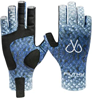 Filthy Anglers Lightweight Fishing Gloves UV Protection UPF50+ Sun Gloves Men Women for Kayaking, Hiking, Paddling, Driving, Canoeing, Rowing
