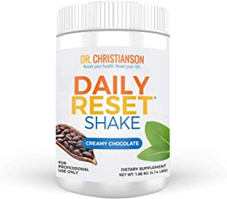 Dr. Christianson Chocolate Daily Reset Shake - Creamy Chocolate Pea Protein Powder + Vitamin B6 and L-Glutamine - 22g of C...