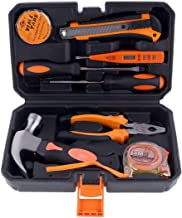 8-Piece Heavy Duty Tool Set With Tool Bag Black/Orange/Silver