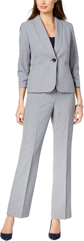Financial sales sale Le Suit Women's Crosshatch Alternative dealer 1 Collar Pant Btn Shawl