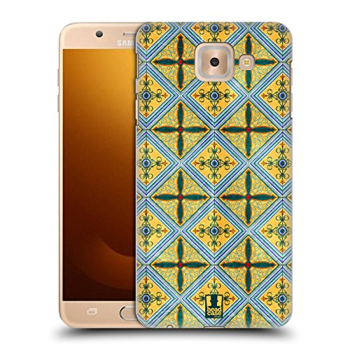 Head Case Designs Cerámica Patrón de Arabesco Carcasa rígida Compatible con Samsung Galaxy J7 MAX
