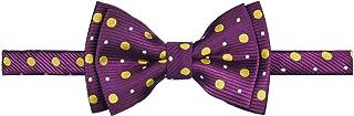 ربطة عنق للأولاد من Retreez Chic Preppy Polka Dots منسوجة مسبقًا ومصنوعة من الألياف الدقيقة