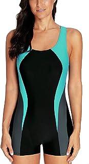 ثوب سباحة CharmLeaks نسائي قطعة واحدة ثوب سباحة رياضي للسباحة