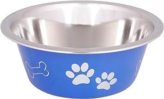 Naaz Pet Bone&Paw Cutie Bowls (Blue) Dog Bowls Export Quality Inside Stainless Steel Dog Food Bowl Feeder Bowls Pet Bowl f...