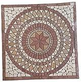 Mármol cuadrado 60 x 60 cm del mosaico medallón Rosso Verona fabricada en Europa