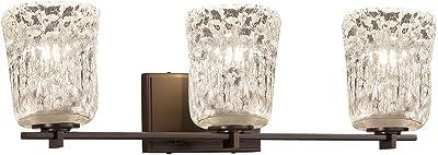 Justice Design Group Lighting GLA-8412-20-LACE-CROM-LED2-1400 Union 2 Round Flared Shade LED Light Bath Bar Polished Chrome