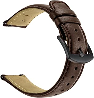 Kartice Compatible Samsung Gear S3 Classic/Frontier Smartwatch Band,22MM Genuine Leather Strap Replacement Buckle Strap Wrist Band for Samsung Gear S3 Frontier/Classic-Brown-b
