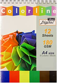 Digital A4 Sketch Pad Colored Paper, 180 Gm