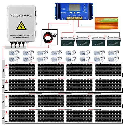 ECO LLC 3000W Off Grid Solar Panel Kit 48V Complete Solar System Include 16pcs...