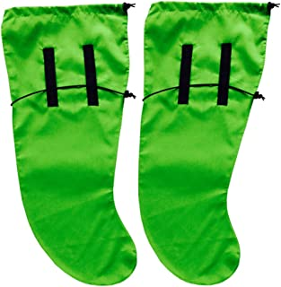 Anti Leech Hiking Socks Free Size Protection for Trekking (Green)