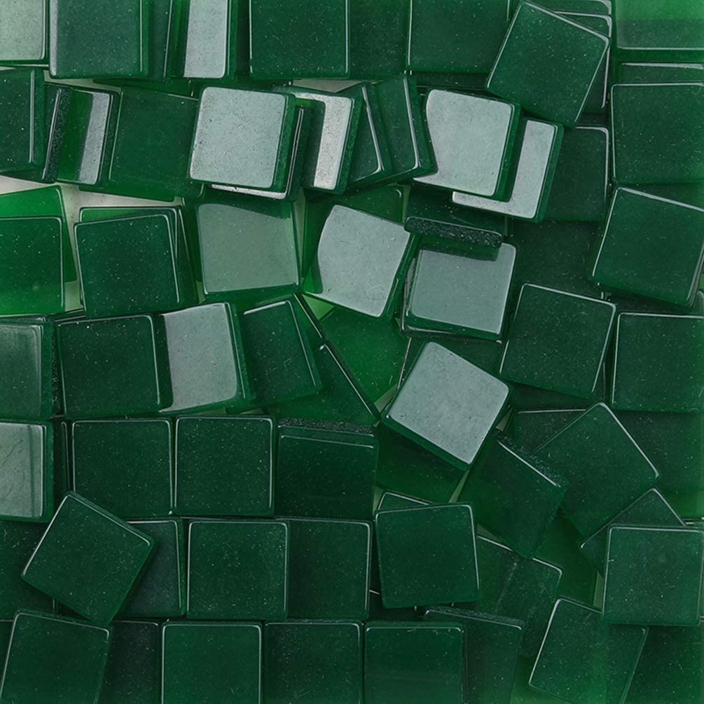 100 pcs Mosaic Tiles Stained 4 years warranty Resin Orga Max 42% OFF Pieces with Glass