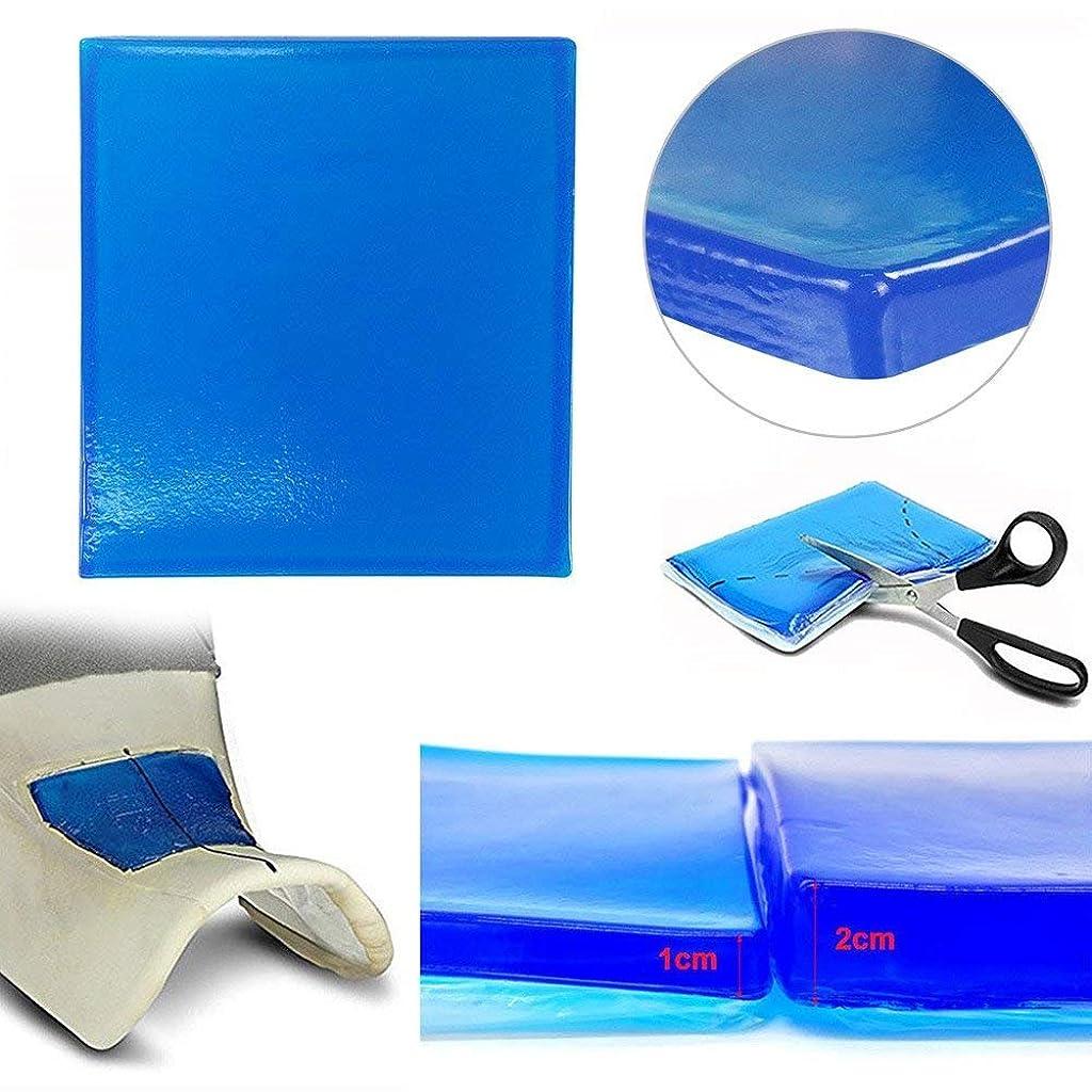 きちんとしたタオルワインlisyline Motorcycle Seatジェルパッド快適なソフト冷却ファブリッククッションブルー(25?x 25?x 2?cm