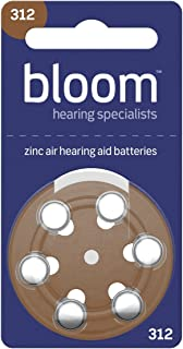Hearing Aid Batteries by Bloom Hearing Size 312 (Pack of 60