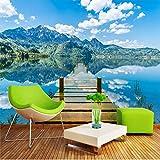 Papel pintado Mural personalizado 3d relieve Magnolia pájaro tela de pared blanca sala de estar sofá TV pegatinas de pared decoración del hogar papel tapiz 3D*350cmx256cm(137.8x100.8inch)