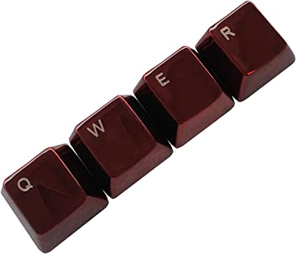 LXH-SH Teclado Cap Red Metal Keycaps QWER Conjunto de Claves ...