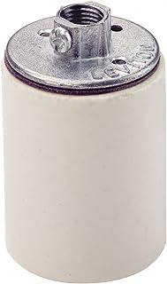Leviton 10045 Medium Base, One-Piece, Keyless, Incandescent, Glazed Porcelain Lampholder (White)
