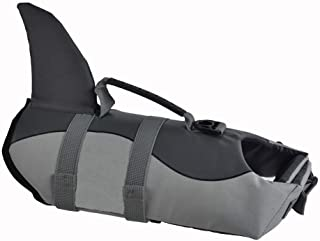 SILD Chaleco Salvavidas para Perro Chaleco de Seguridad Ajustable Salvavidas Chaleco Flotador para Mascota arnés de natación Perro Chaleco Salvavidas(Shark L)