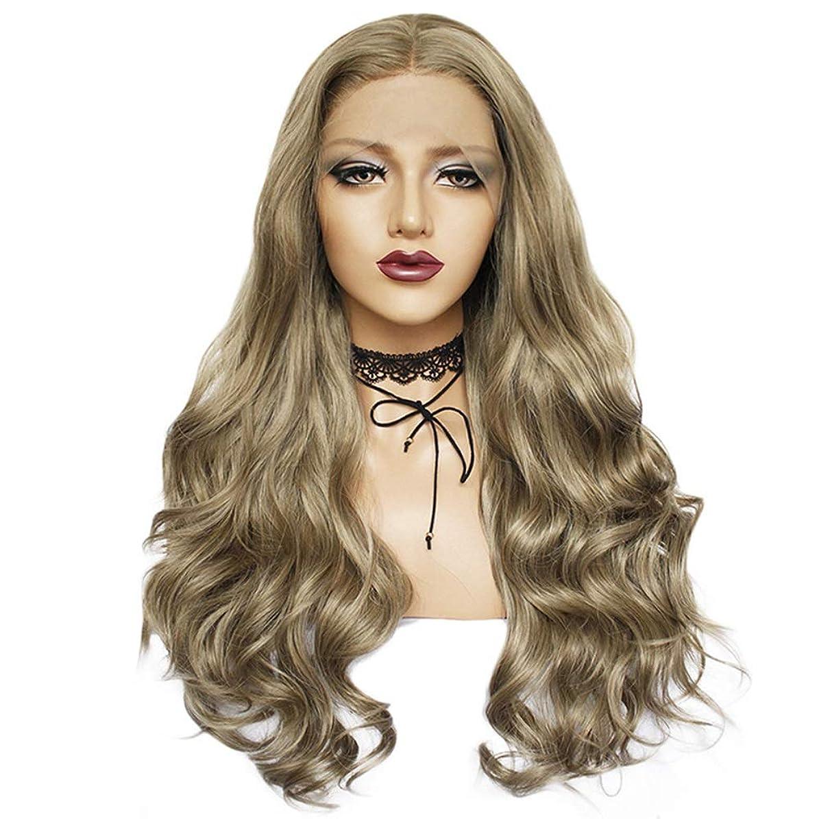 封筒発明する吸うZXF かつら女性の化学繊維かつらヘッドギア26インチリネン大波巻き毛高密度現実的で繊細 美しい