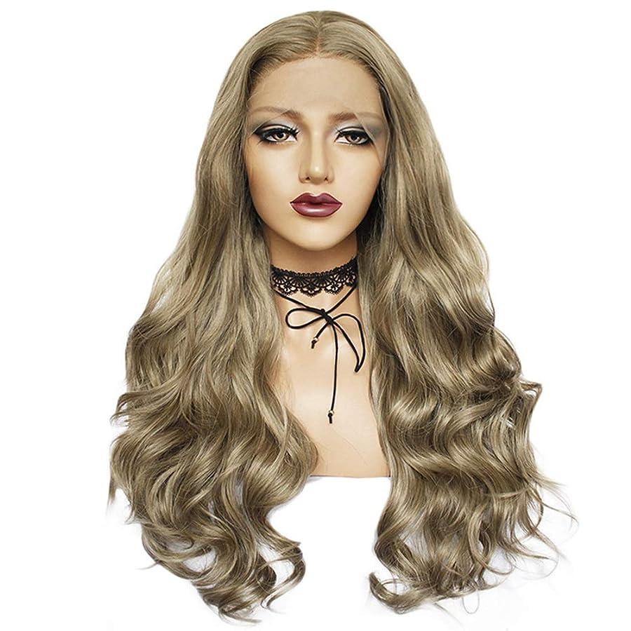 講義ペネロペリストZXF かつら女性の化学繊維かつらヘッドギア26インチリネン大波巻き毛高密度現実的で繊細 美しい