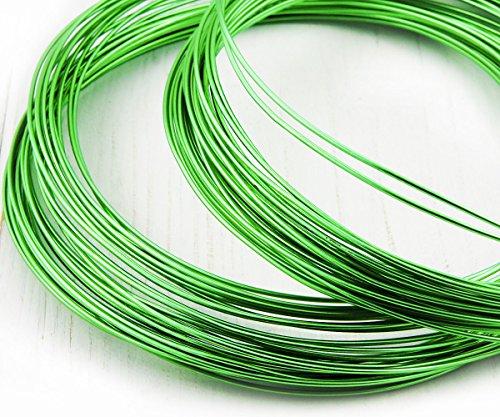 32ft 10m 11yrd Gras Grün Künstlerischen Aluminium-Schmuck-Handwerk-Schnur-Aluminium-Soft-Laune-Draht-String-Faden, 1mm Gauge 18