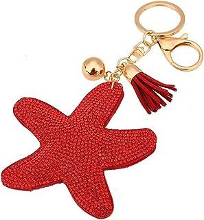 8304e24e3 Wa Lindo Llavero de Cuero para Cubierta de la Llave del Coche Llavero  Estrella
