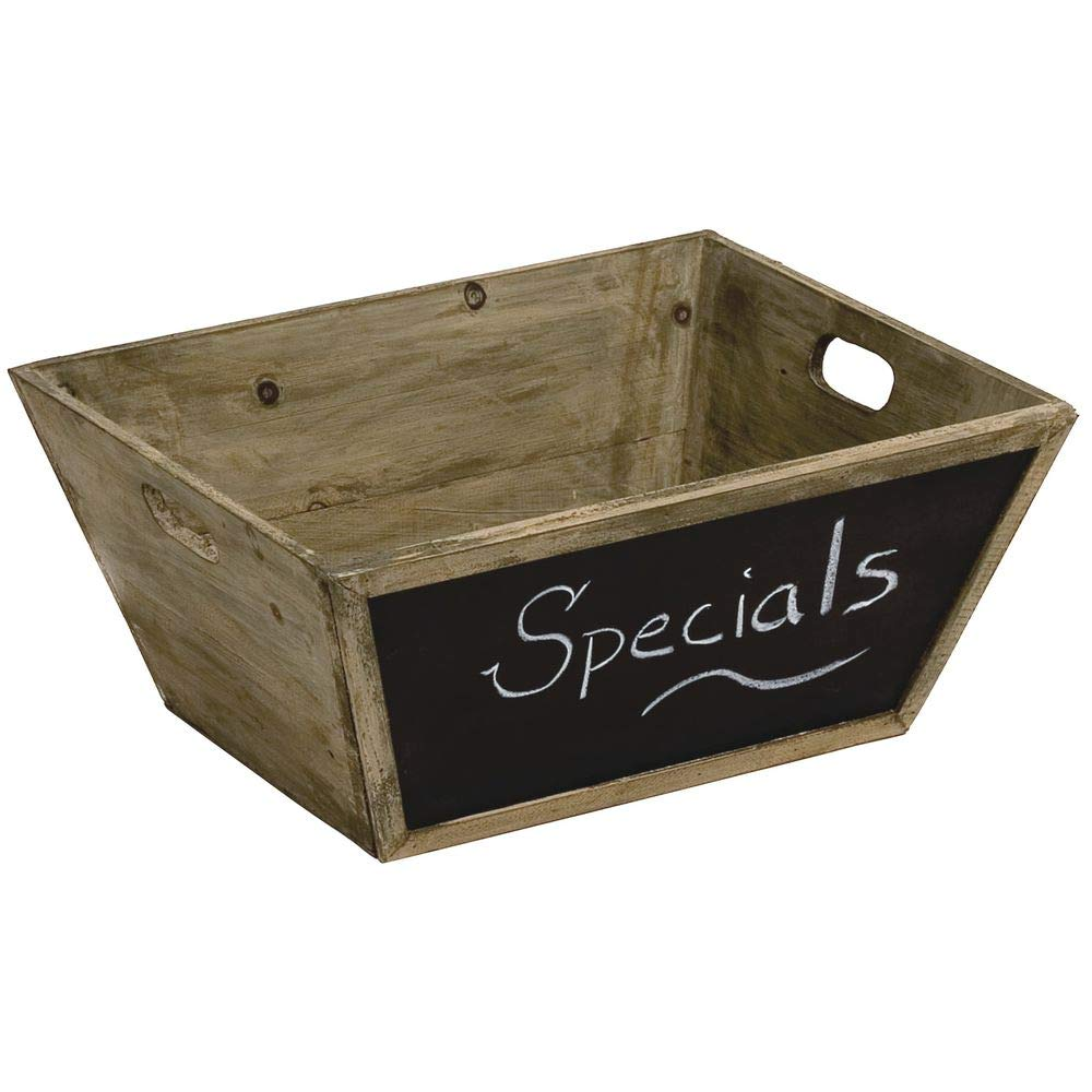 Display Crate Manufacturer regenerated product with Chalkboard Tapered Rustic 1 4
