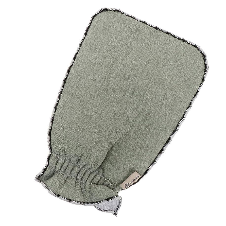 香ばしいブローホール間接的お風呂用手袋 入浴用品 垢すり用グローブ バススクラバー 男女兼用 3色選べ - ライトグリーン