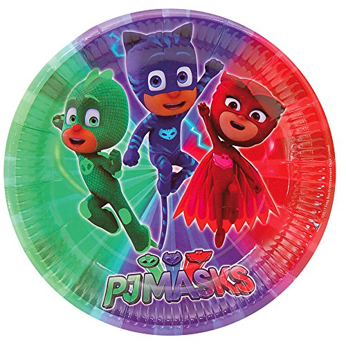 PJ Masks Platos para decoración de fiestas (Verbetena 016001311)