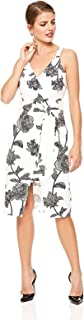 Bebe Womens 70464B Bebe Floral Bodycon Dress for Women - White
