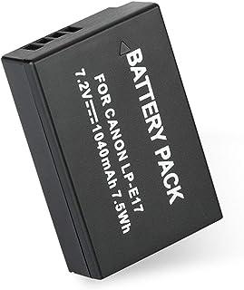 Ballylelly Cámara Libre de Mercurio de la batería 1040mAh Sin Efecto de Memoria para Canon LP-E17